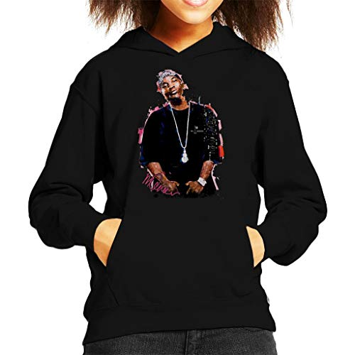 Sidney Maurer Original Portrait of Young Jeezy Kid's Hooded Sweatshirt