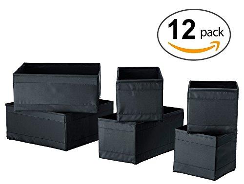 Ikea Skubb Drawer Storage Organizer's Black (12 Pack) (5 Dresser Ikea Drawer)