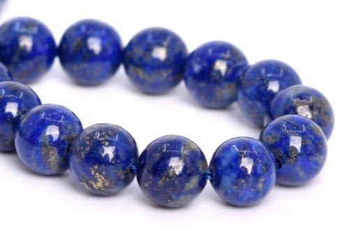 6mm Genuine Natural Dark Blue Lapis Lazuli Bead Afghanistan Around Beads 7.5'' Crafting Key Chain Bracelet Necklace Jewelry Accessories Pendants