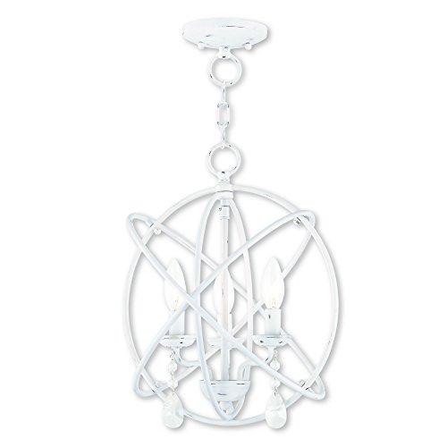 Livex Lighting 40904-60 Aria 3 Light AW Mini Chandelier/Ceiling Mount, Antique White