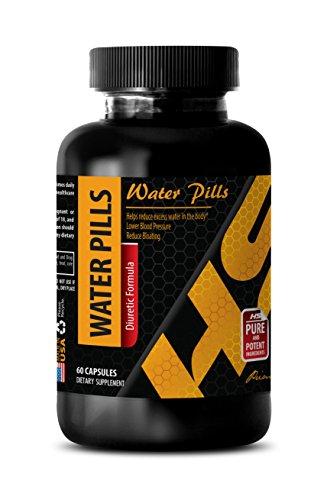 Diuretics for high blood pressure - WATER PILLS (Diuretic Formula) - Water away herbal diuretic - Potassium pills - 1 Bottle 60 Capsules