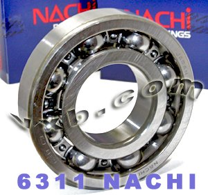 6311 Nachi Bearing Open C3 Japan 55x120x29 Ball Bearings