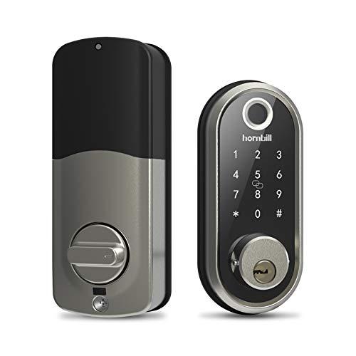 Deadbolt Lock, Smart Lock Front Door, Keyless Entry Door Lock Fingerprint Door Lock with Biometric Touchscreen, Digital Wifi Exterior Door Locks Work With Alexa for Home Security Vacation Rental Hosts