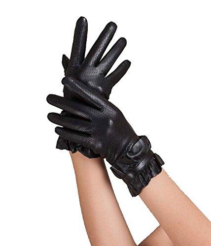 GlOV 本革手袋 レディース レザー 黒 グローブ クラシカル 上品 ギフト?プレゼント?クリスマスに最適 高品質で上品な革手袋 9257