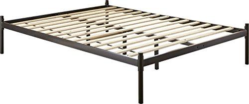 Flex Form Polo Platform Bed Frame/Metal Mattress Foundation with Hardwood Slats, Black, Full by Flex Form