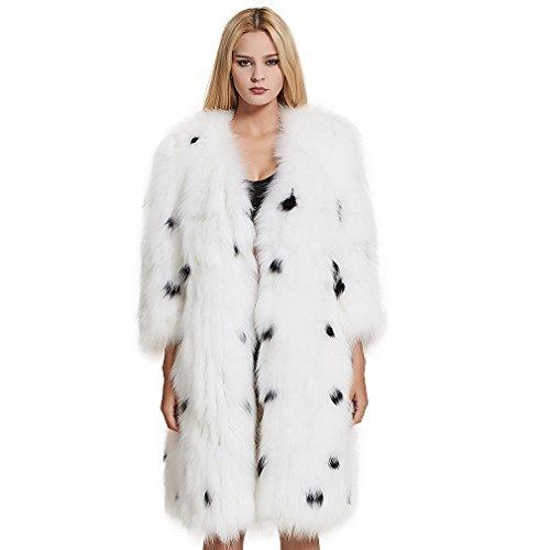 V-Neck Womens Fur Coat - 3
