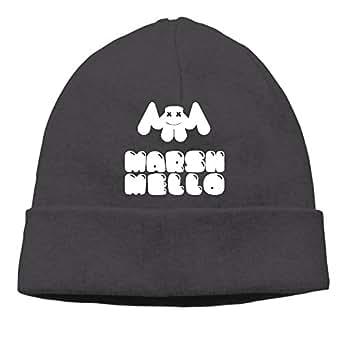 ASAS Marshmello Woolen Hats/Plush Hat/Head Cap Black at