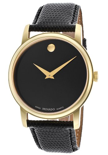 Movado Men's 2100005 Museum Gold Classic Leather Watch (Mens Black Movado Watch)