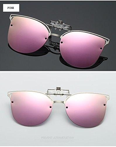 Cyclisme Clip Soleil Polarisées Femmes Lunettes Shishanyun de UVA Vision Pink Anti Soleil Lunettes UV Conduite de Near Lentille Clip Anti Équitation Sighted nPXvqv