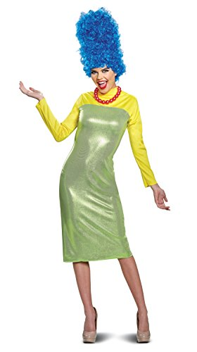 Disguise Women's New Marge Deluxe Adult Costume, Green, M (8-10) -