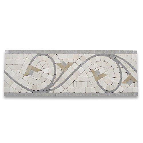 (Agean Sienna 5x14-1/2 Marble Mosaic Border Tumbled)