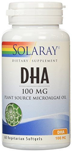 100 Mg Dha (Solaray DHA Neuromins Capsules, 100 mg, 60 Count)