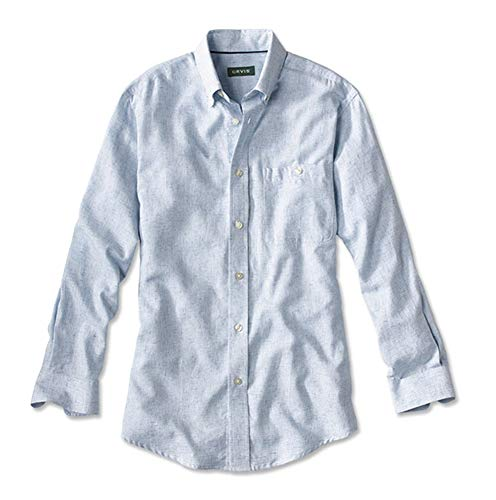 (Orvis Men's Southport Cotton-Blend Shirt/Southport Cotton Blend Shirt, Blue Gingham, Xx Large)