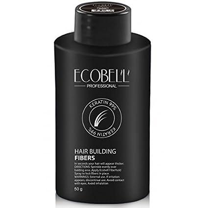 Ecobell maxi formato 50 gramos negro. Polvo de cabello voluminizador calvicie