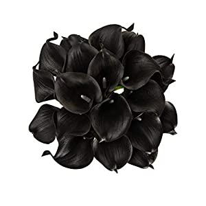 Artificial Flowers Real Touch Calla Lily Wedding Bouquet 18pcs Home Garden Party Festival Decoration 100