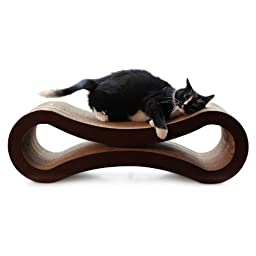 PetFusion Ultimate Cat Scratcher Lounge.  [Superior Cardboard & Construction].  Beware \'cheaper copycats\' with \'unverified\' reviews