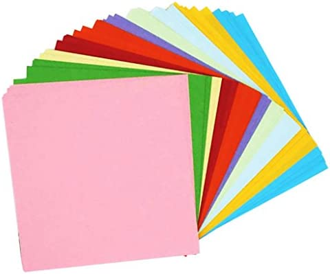 T TOOYFUL 約100枚入り 折り紙 カラーペーパー 片面 10色 正方形 DIY ペーパークラフト 全3サイズ - 15