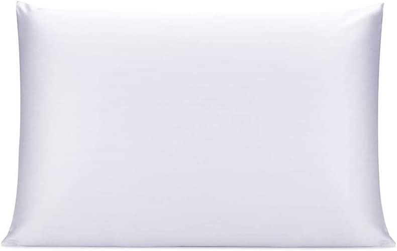 Black Both Sides 16mm Charmeuse Gift Box 1pc 40x60cm OLESILK 100/% Mulbery Silk Pillowcase with Hidden Zipper for Hair and Skin