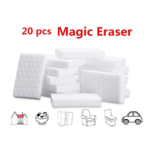 Dr.WOW 20 Pcs/Lot Magic Eraser,Great Price Melamine Sponge - 2X Thicken 2X Long Lasting Cleaning,Magic Sponge In Kitchen Air Fryers, Bathroom, Office Work Well
