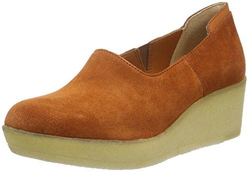 Clarks Originals Athie Luna, Scarpe con piattaforma Donna, Marrone (Rust Vintage Sde), 35.5 EU