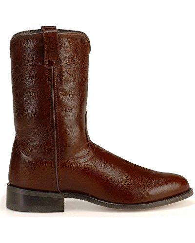 Old West Mens Läder Roper Cowboy Boot - Srm4051 Solbränna