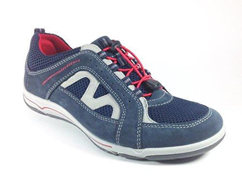 Chaussures Casual Pour Hommes En Daim Noir Et Nylon 50851n (40, Bleu)