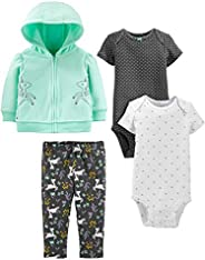 Simple Joys by Carter's Baby Girls' 4-Piece Fleece Jacket, Pant, and Body