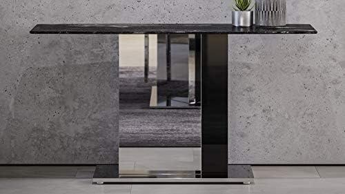 Zuri Furniture Modern Nero Console Table