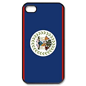 Custom Your Own Personalised Belize Flag Iphone 4/4S Best Durable Hard Cover Case