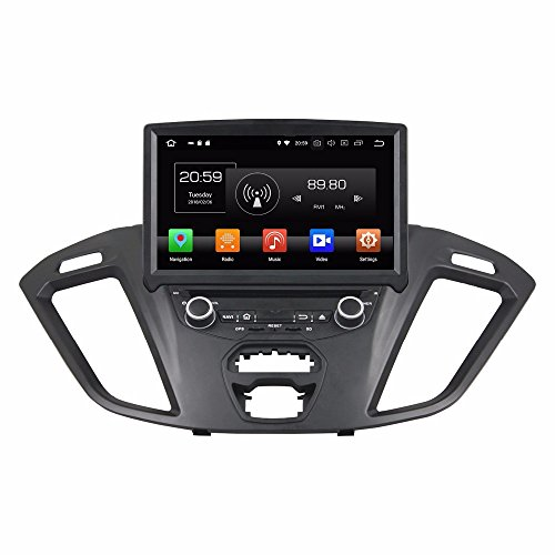 "Glyqxa Android 8.0 Octa Core 8"" Car DVD Multimedia GPS for Ford Transit Custom with Radio 4GB RAM WiFi USB 32GB ROM"