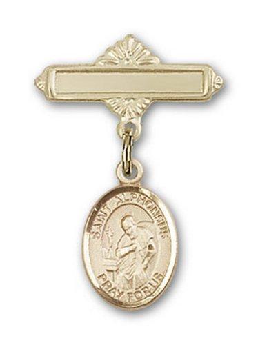 Icecarats Or Bijoux De Créateurs Rempli R. Charme Alphonsus Broche De Badge 1 X 5/8