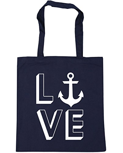 Love litres 10 Shopping Navy x38cm Anchor Gym Tote HippoWarehouse 42cm French Beach Bag vdgqw