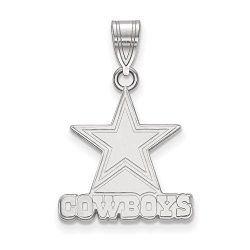 Sterling Silver Dallas Cowboys Medium Pendant