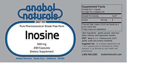 Anabol Naturals Pre-workout Power Stack: Creatine 1000 Caps & Inosine 480 Caps (4 Month Supply)