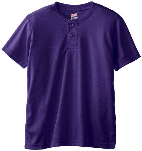 Soffe Big Boys' Dri Fit Baseball Henley, New Purple, (Soffe Henley)