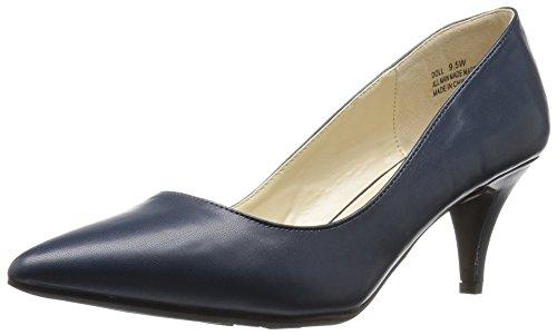Annie Shoes Women's Doll Wide Calf Dress Pump - Navy - 8....