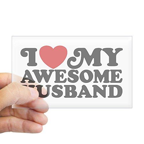 i love my husband bumper sticker - 2