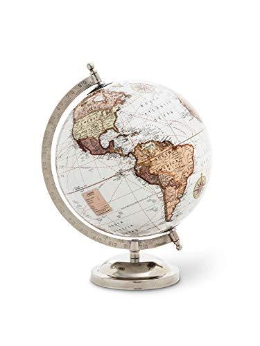 Abbott Collection 57-LATITUDE-05 Glossy Globe On Stand White