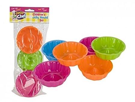Junior Chef Children S Jelly Mould Set 6 Plastic Moulds Kids