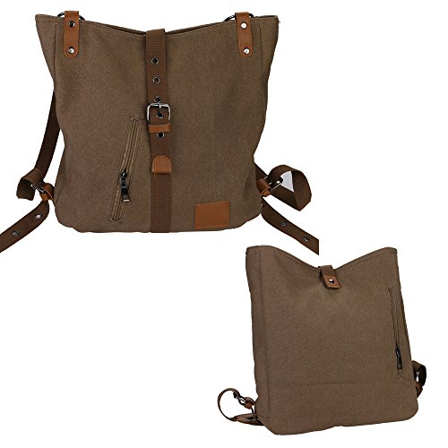 Bags Bag Khaki Outsta Hobos Backpack Women's Shoulder Vintage Female Casual Totes Coffee Canvas OqrUHwOT