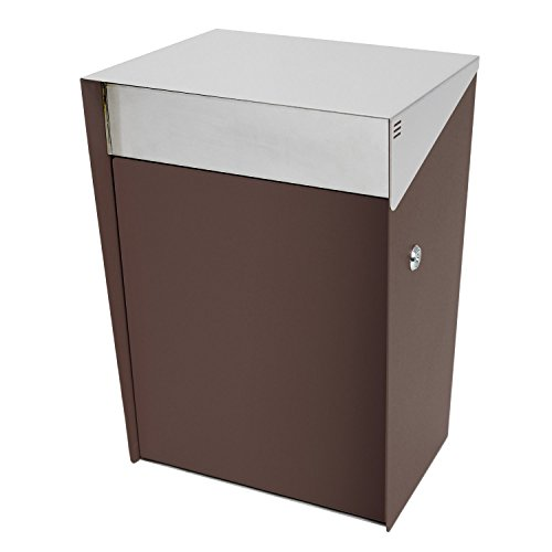 Design Mount Wall Mailbox (KATANABOX Hover DR - Stainless Steel Wall Mount Modern Design Mailbox with lock and key extra large Letterbox Rust Proof for Modern Home House Apartment Rural Roadside 10