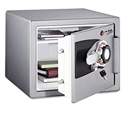 Sentry Safe Tubular Key/Combination Fire Safe, .8 ft3,16-11/16w x 19-5/16d x 13-23/32h, Gray