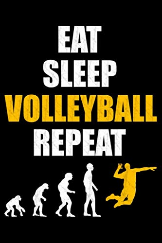 Eat Sleep Volleyball Repeat: Dot Grid Journal or Notebook (6x9 inches) with 120 Pages