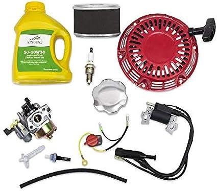 Carburetor Ignition Coil Spark Plug Air Filter Kit For Honda GX160 GX200