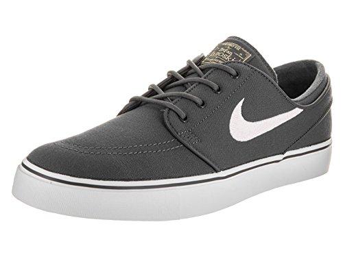 Nike Mens Zoom Stefan Janoski Cnvs Drk Gry/White/Gm Lght Brwn/Mtl Skate Shoe 9 Men US, Drk Gry/White/Gm Lght Brwn/Mtl, 42.5 D(M) EU/8 D(M) UK