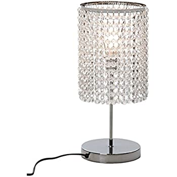 Ore international 8315c deco glam table lamp 2025 amazon surpars house elegant crystal silver table lamp aloadofball Images