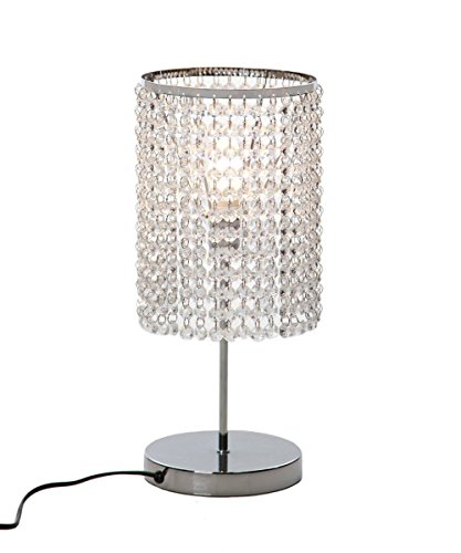 - Surpars House Elegant Crystal Silver Table Lamp