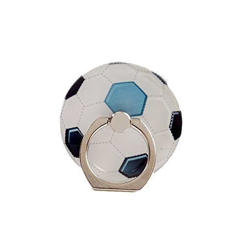 ZOEAST(TM) Sport Soccer Ball Phone Ring Universal 360° Rotating Buckle Tablet Finger Grip Ring Stand Holder Kickstand Tablets iPhone 4S 5 5S 6 6S SE 7 8 Plus X Samsung Android iPad (Football)