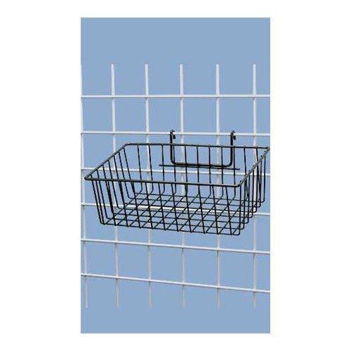 Box of 3 Black Powder Coat Finish Mini-Grid Basket - 12''L x 8''W x 4''D