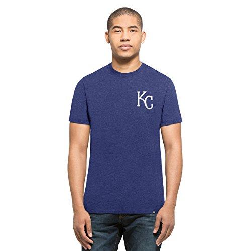 ('47 MLB Kansas City Royals Men's Backer Club Tee, Royal, Medium)
